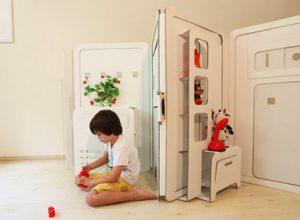 Сгъваема къщичка за игра от картон