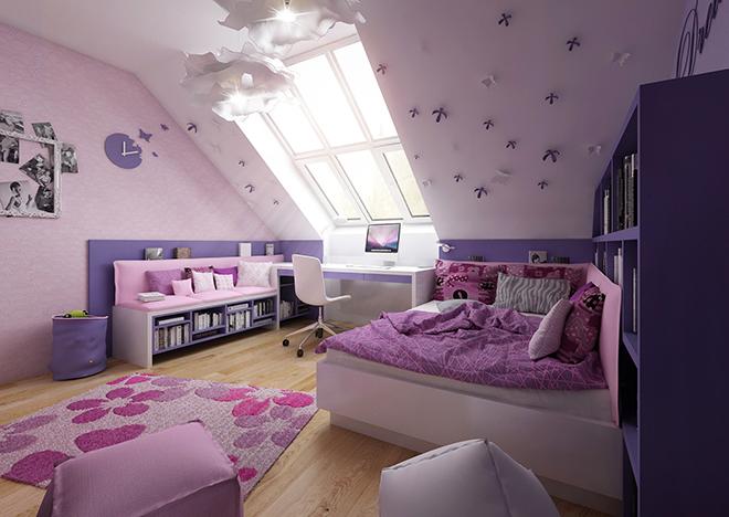 Розово-лилава стая